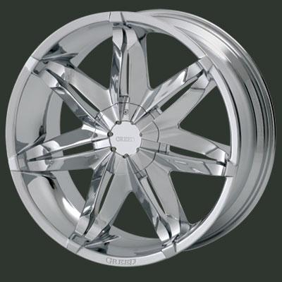 Greed - 733 - 20 x 8.5 - Chrome Rims / Wheels - YouTube