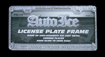 license to bling iced out diamond license plate frame with crystals 3900