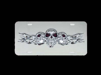 Chrome License Plate Frames, Iced Out Lisence Plate Frame