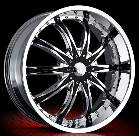 vct abruzzi wheels chrome with black inserts rims for. Black Bedroom Furniture Sets. Home Design Ideas