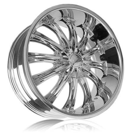 Chrome Wheel on Bentchi B15 Chrome Custom Wheels Package