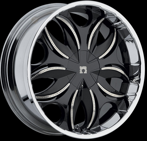 Chrome Wheel Packages on Chrome   Black Finish Genesis Wheels Packages   Chromerimshop Com