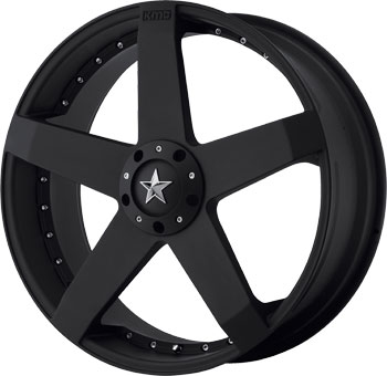 Rockstar Km775 Kmc Wheels Machined Matte Black Finish Rims
