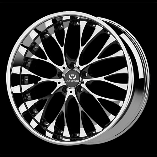 wl27 lorenzo wheels chrome finish rims for sale 19 inch. Black Bedroom Furniture Sets. Home Design Ideas