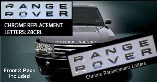 Range Rover Accessories Range Rover Chrome Letters Range