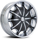 Starr Dynasty  Wheels Chrome/Black Inserts