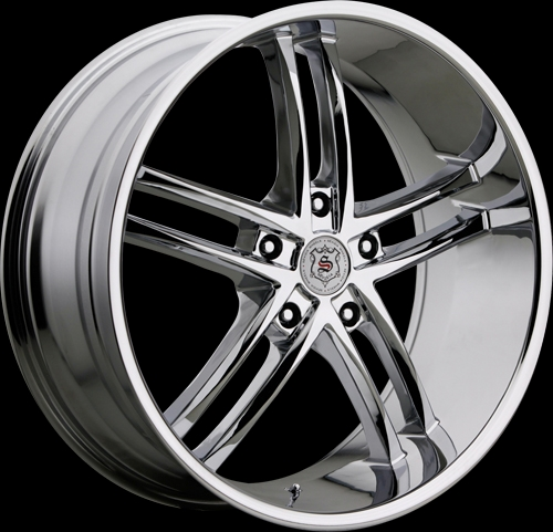 425 chrome 5 lug sevizia custom wheels package 20 inch. Black Bedroom Furniture Sets. Home Design Ideas