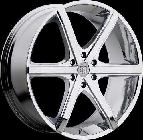 426 chrome 6 lug sevizia custom wheels package 20 inch. Black Bedroom Furniture Sets. Home Design Ideas