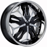 Starr Renegade  Rims Black / Machined