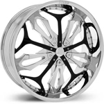 Starr Renegade  Wheels Chrome / Black Accents