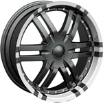 Starr Spyder  Wheels Machined Black/Accents