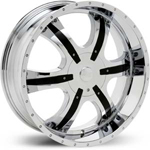 Starr Spyder  Rims Chrome / Black Accents