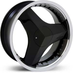 Starr Killa  Wheels Black / Machined