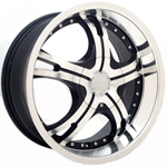 Starr Malaga  Wheels Machined Black