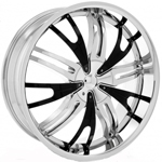 Starr Impact  Rims Chrome/Black Accents