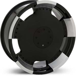 Starr Full Plate  Rims Black / Machined