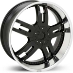 Starr Dominator  Rims Black / Machined