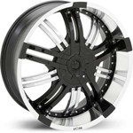 Starr Sidious  Wheels Black / Machined